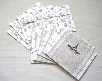 Floral tiny envelopes, Japanese ephemera stationery Paris