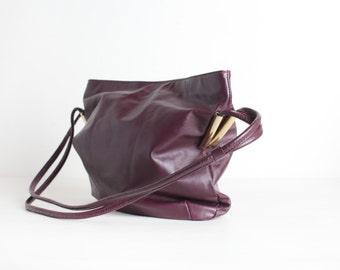 Vintage Cordovan Leather Shoulder Bag
