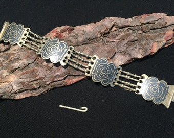 Enameled bracelet,Vintage  Bracelet, Bracelet,Middle Eastern,Vintage cuff ,Hzara Jewellery,Blue Bracelet,Bracelet,Enameled