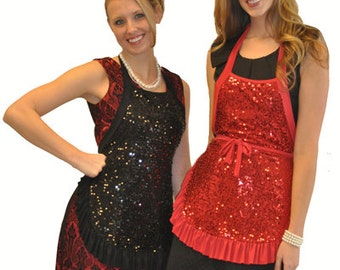 SEQUIN APRON