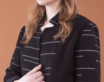 ON SALE Vitorio jacket, 100% cotton, handwoven, FW16
