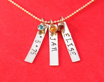 Mother's Day Bar Necklace