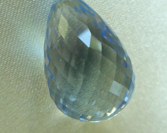 Blue Topaz Faceted Briolette - Large Gemstones  - 24mm x 15mm