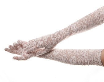Long Lace Gloves, Long White Gloves, Long Wedding Gloves, Long Bridal Gloves, Long Gloves, Wedding Gloves, Bridal Gloves, Lace Bridal Gloves
