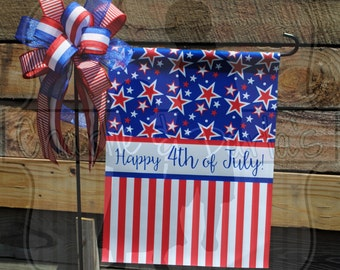 Patriotic Fourth of July Garden Flag
