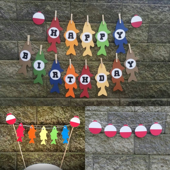 Fishing Birthday Party Fishing Cake Banner by