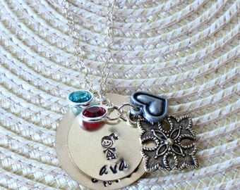 Hand Stamped Custom Necklace