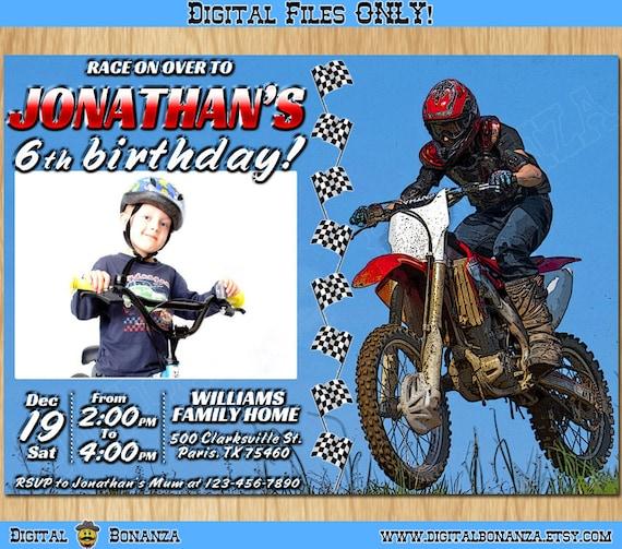 Personalized motocros invitation printable race birthday invitation il570xn filmwisefo