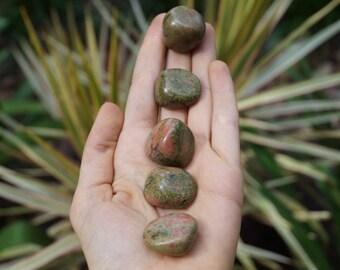 5 or More Unakite Tumble Stones