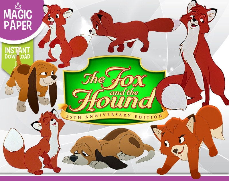 The Fox and The Hound Clipart - Disney Digital 300 DPI PNG ...
