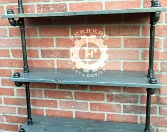 Steampunk furniture,pipe Bookshelf, Bookshelves, Industrial shelves, industrial shelfs, pipe shelf, pipe shelving, rustic decor, shelf