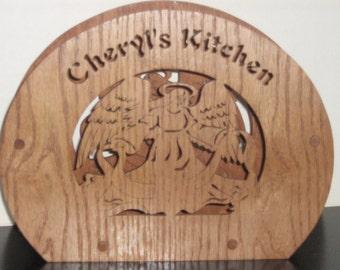 Custom Handmade Angel Paper Plate Holder