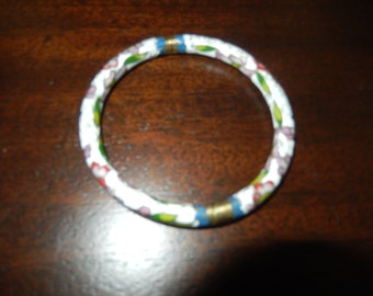 WHITE CLOISONNE BANGLE Bracelet
