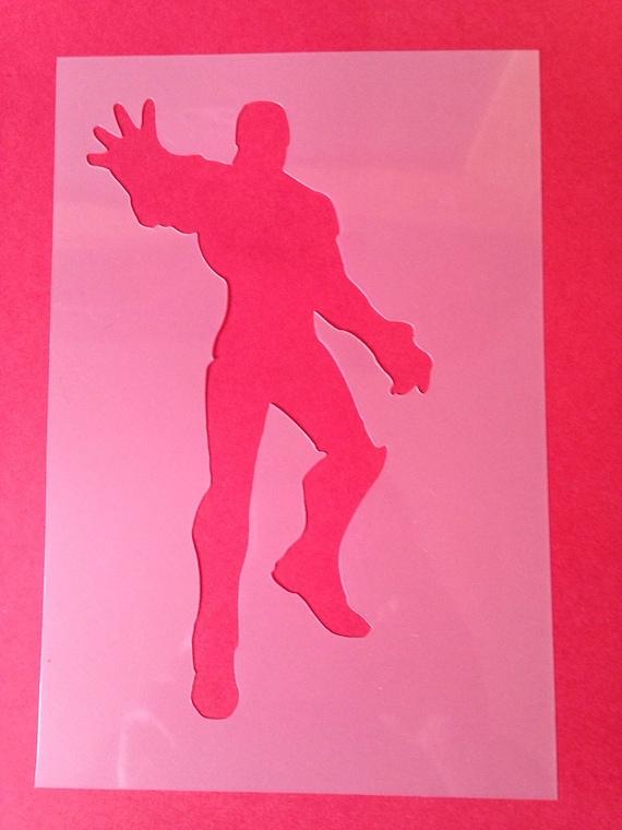 Ironman Stencil Superhero Silhouette Bedroom Airbrush