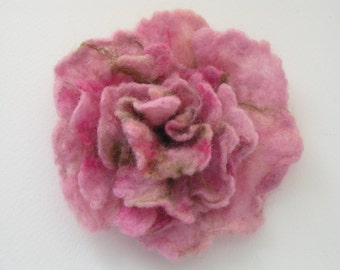 Beautiful flower, rose, brooch, felted