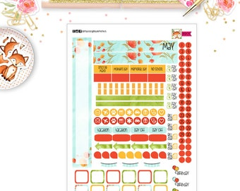 May 2017 Planner Stickers for your  PERSONAL SIZE planner (MP05)