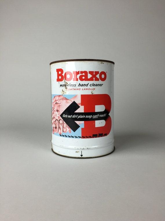 Vintage advertisement boraxo hand soap dispenser for Soil x cleaner