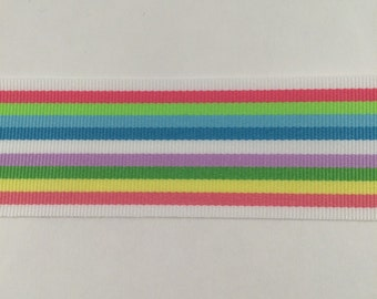 1.5 Inch Striped Grosgrain Ribbon