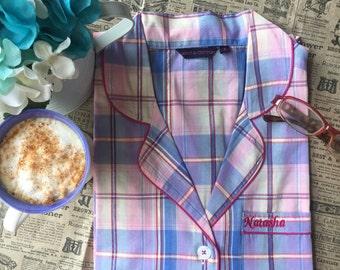 Plaid Cotton Pajama set