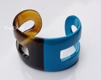 Horn & Lacquer Cuff Bracelet - V57S