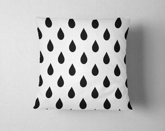 Rain drops pattern throw pillow