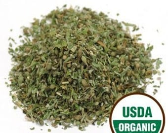 USDA Certified ORGANIC CATNIP herb; Sold by weight in 1/2 or 1 ounce packages.