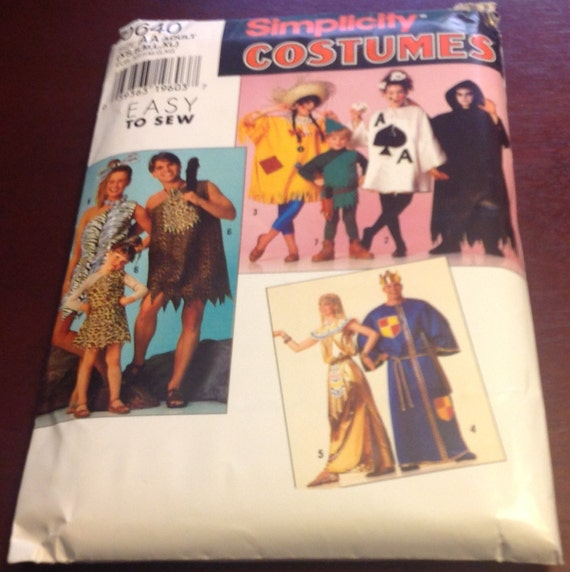 Man Cave Uncut : Simplicity costumes aa adult sewing pattern cave man