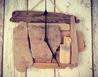SOLD** Handmade Driftwood Piece Clock - We can make similar driftwood clocks to this one.