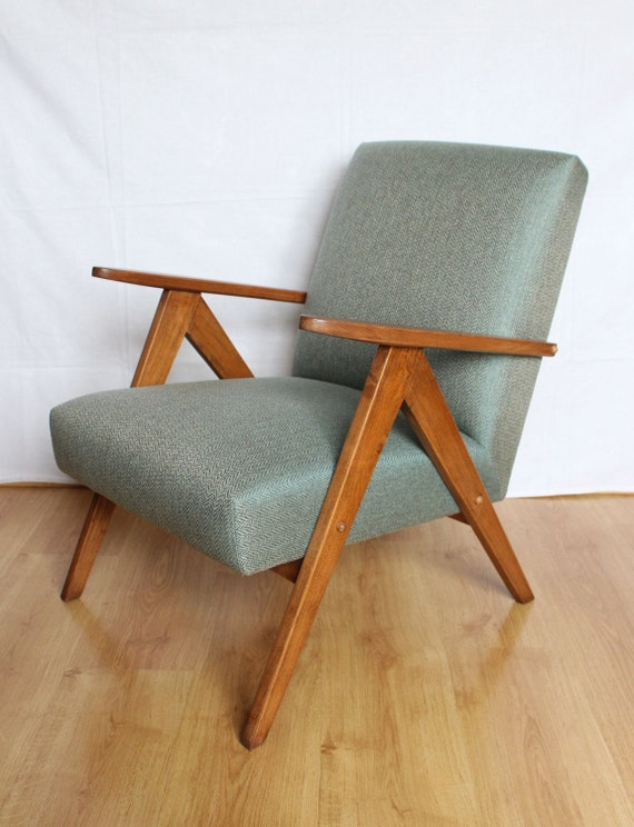 Chair 60s style mid century sapin reserved for Sixties style chairs