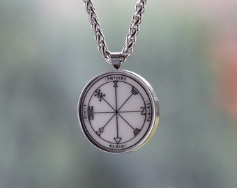 talisman for SUCCESS in BUSINESS amulet stainless steel set - pendant + chain wicca high quality kaballah 1st pentcle of Jupiter