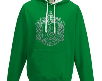 Harry Potter Slytherin house Quidditch hoodie in Green and white