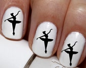 20 pc Ballerina Nail Art Tiny Dancer  Nail Decals Nail Stickers Lowest Price On Etsy #cg66na