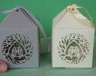 50 wedding favour boxes wedding sweet boxes decoration love bird