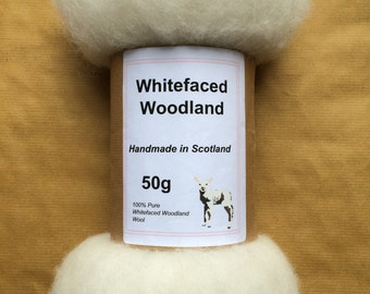 Whitefaced Woodland Carded Batt -  50 grams