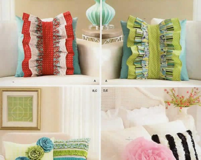 Free Us Ship Sewing Pattern Simplicity 1679 Embellished Ruffle Throw Couch Bed Pillows Ucut New Home Decoration