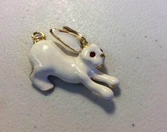 Pfister enamel bunny rabbit pendant