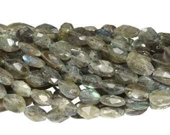 13 1/2 IN Strand 6x10 mm Labradorite Oval Faceted Gemstone Beads (LABAVF0912)