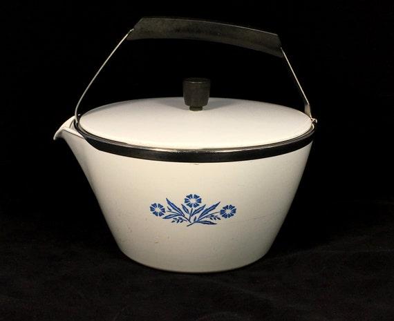 1960s Vintage Corningware P 57 B Blue Cornflower Ceramic 2 Qt
