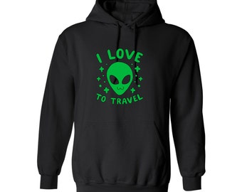 Space Bae Alien Travel for Adult Unisex Tees Mens hoodie Womens Sweater Warm Clothing Sweatshirts and Hoodies