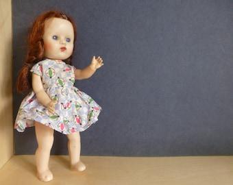 Sarold Doll 19cm tall Hard Plastic 1950's with Two Original Dresses