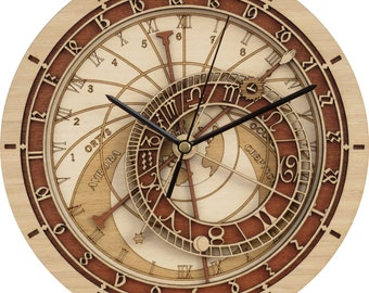Prague Astronomical Clock in Wood - Limited Edition