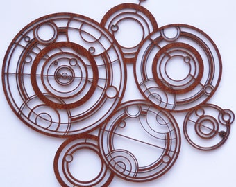 Doctor Who Gallifreyan sign in wood, inspired by the Doctors Crib / Cot