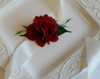 Red Wedding Corsage Wrist Corsage For Bridesmaid