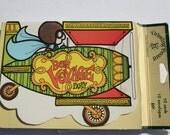 Vintage retro Bon Voyage Party Invitation, Retro Airplane Drawing Board Card Invites, Lot of 10 Card and Envelopes