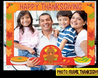 "Print Photo Frame ""Thanksgiving Party"""