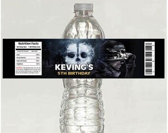 Call of Duty Water Bottle Label - Printable