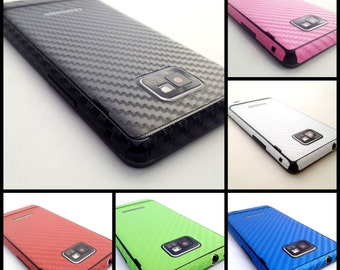 Samsung Galaxy S2 i9100 S 2 Sii S ii Fullbody 3D Carbon Skin Wrap Decal Sticker - carbon fiber vinyl - Not a hard case