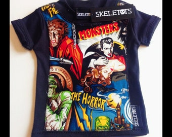 Skeletots boys horror movie goth vampire t-shirt ages 1-4 years