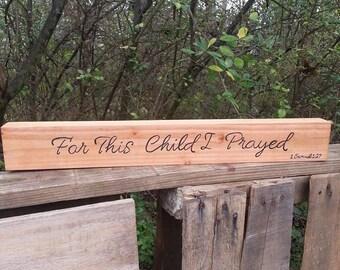 For This Child I Prayed - 1 Samuel 1:27