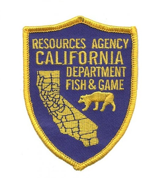 California department of fish and game patch for Department of fish and game